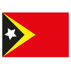 Timor-Leste Flagge Icon Button