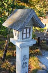 Japanese lantern at shinto temple