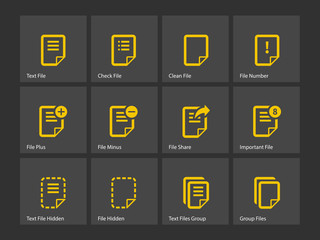 Notepad Document file and Note icons.