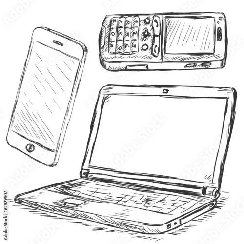 Vector Set of Mobile Digital Devices