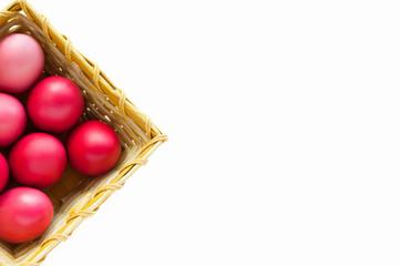 Redd easter eggs isolated on white