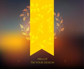Blurred web design template