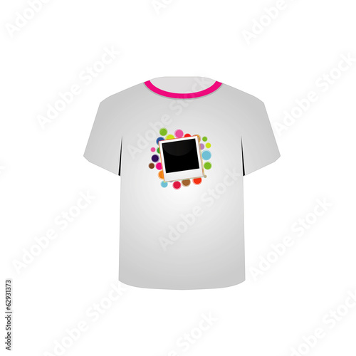 T Shirt Template- Polaroid with colorful circles
