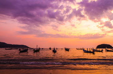 Beauty Of Sunrise Scene on the Beach