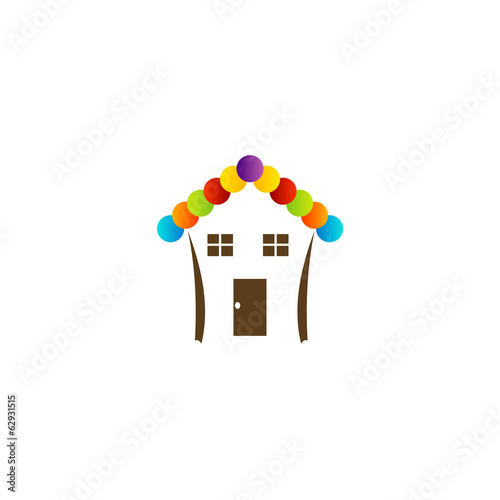House with a roof- Logo for construction or home renovation