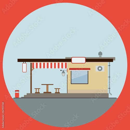 Cafe flat vector illustration