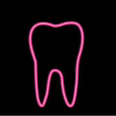 Isolated Neon tooth logo