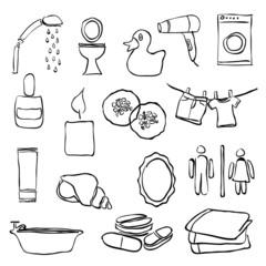 doodle bathroom images