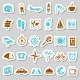 travel and accommodation stickers poster