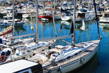 a modern yachts docked
