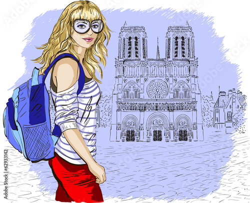 fashion girl in Paris