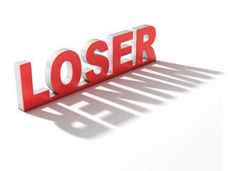 loser winner 3d concept