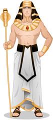 Egyptian Pharaoh Standing For Passover