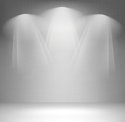 Wall with spotlight