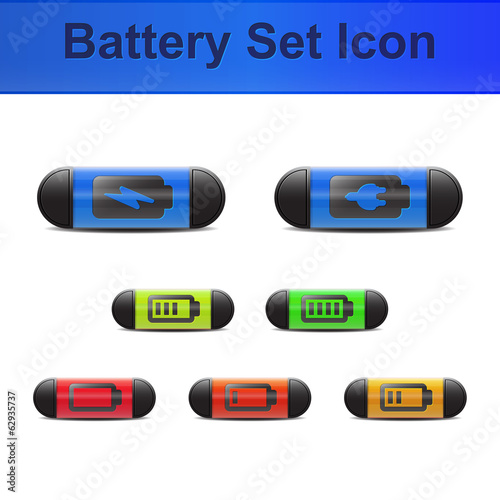 Battery set icon