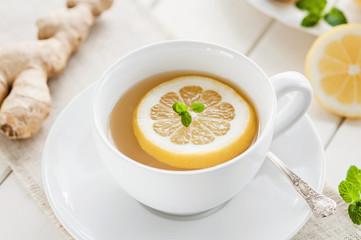Ingwer-Zitronen Heißgetränk