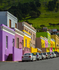 Perspective view of Bo Kaap District, Cape Town, South Africa