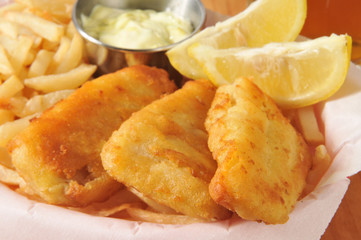Fish sticks with fries