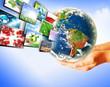 Globe in hands. Best Internet Concept