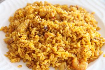 Arroz a banda, seafood rice paella,Denia,Costa Blanca,Alicante,S