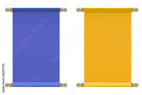 Set of Signs made of  cloth. Vector illustration