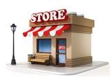 Fototapety miniature store 3d illustration