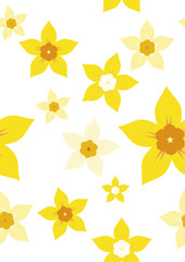 seamless daffodil repeat