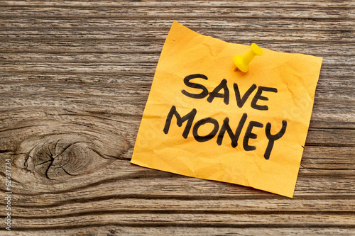 save money reminder note