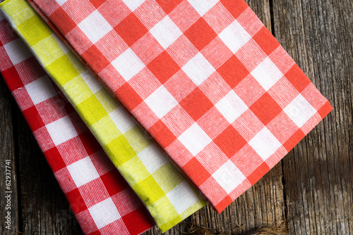 Checkered cloth napkins