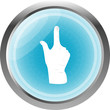 Like hand icon button sign isolated on white