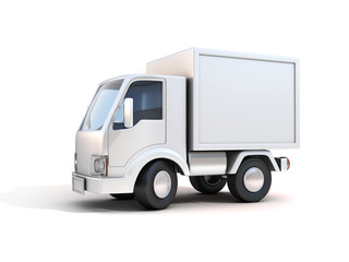 delivery truck - copy space
