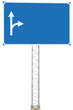 Motorway Road Junction Driving Direction Sign Arrows Signboard
