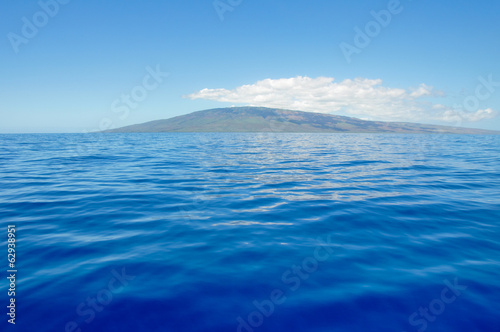 Blue sea and island of Lanai, Maui (USA)