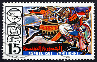Postage stamp Tunisia 1975 Horse and Rider