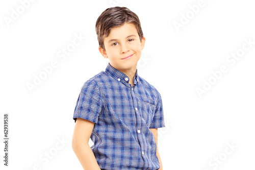 Cute young boy posing