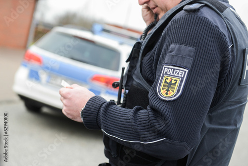 Leinwanddruck Bild Polizist