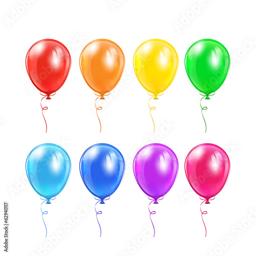 Set of balloons with bow