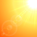 Orange sun burst