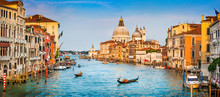 "Постер, картина, фотообои ""Canal Grande panorama at sunset, Venice, Italy"""