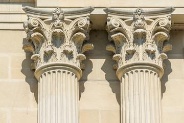 Ancient Stone Temple Corinthian Columns