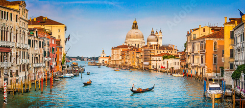 Foto op Canvas Europese Plekken Canal Grande panorama at sunset, Venice, Italy