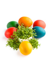 Beautiful decoration for easter isolated on white background