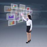 Businesswoman presenting business graph