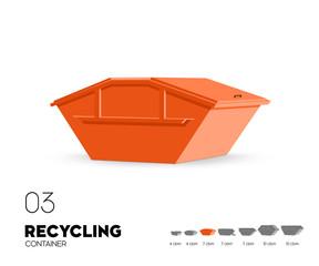 Recycling - Container 7 cbm