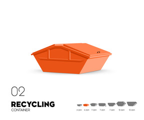 Recycling - Container 4 cbm