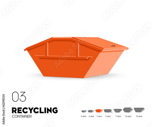 Recycling - Container 7 cbm