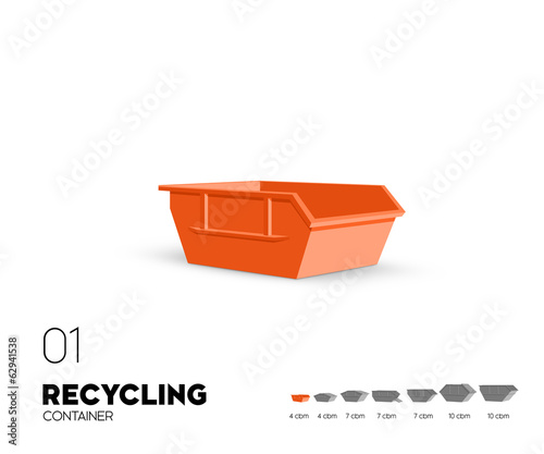 Recycling - Container offen 4 cbm