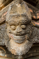 Detail of an ancient Buddhist temple in Bagan, Myanmar (Burma).