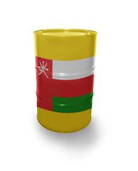 Oil barrel with Omani flag
