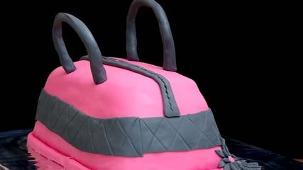 Cake in the shape of handbags
